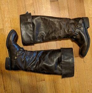 Marco Santi Dark Brown Studded Boots